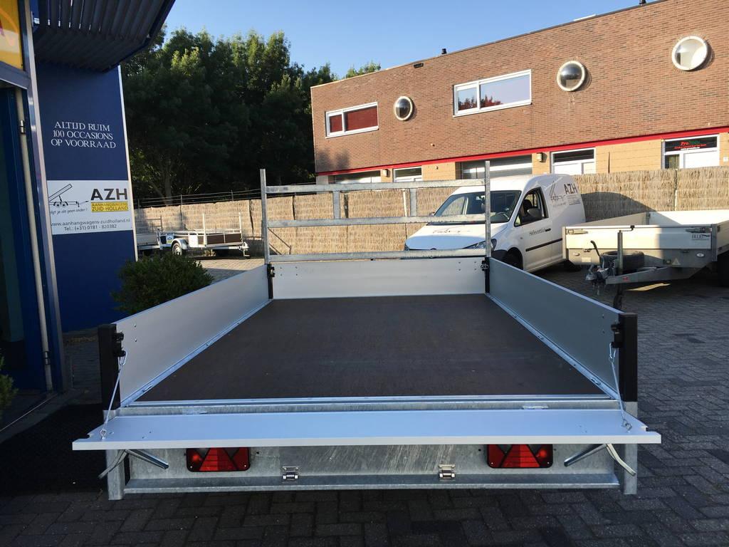 Proline verlaagd 301x185cm 2700kg plateauwagen Aanhangwagens Zuid-Holland 3.0 achterkant open