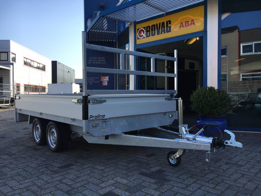 Proline verlaagd 301x185cm 2700kg plateauwagen Aanhangwagens Zuid-Holland 3.0 voorkant
