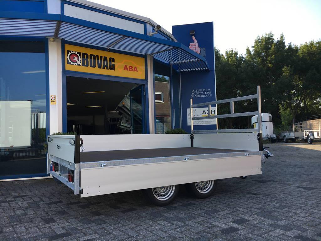 Proline verlaagd 301x185cm 2700kg plateauwagen Aanhangwagens Zuid-Holland 3.0 zijkant open