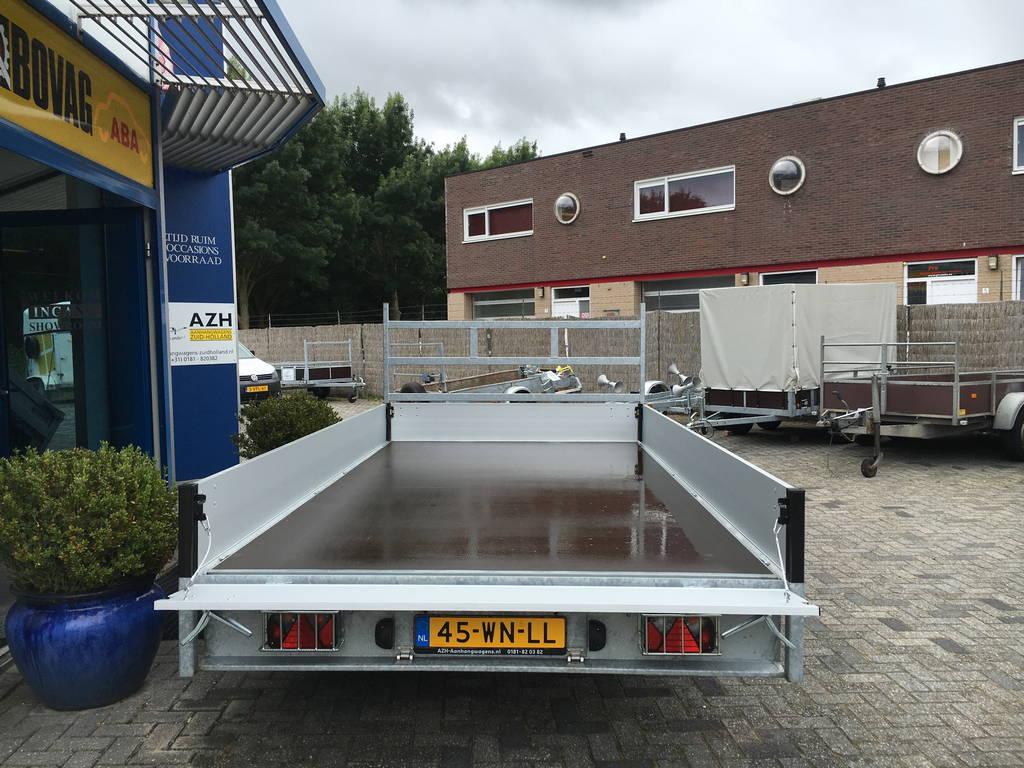 Proline verlaagd 401x202cm 3500kg plateauwagens Aanhangwagens Zuid-Holland 2.0 achter open