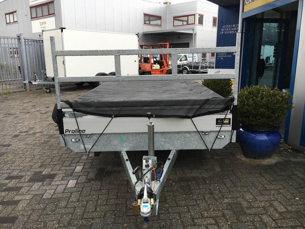 Proline verlaagd 401x202cm 3500kg plateauwagens Aanhangwagens Zuid-Holland 2.0 voorkant