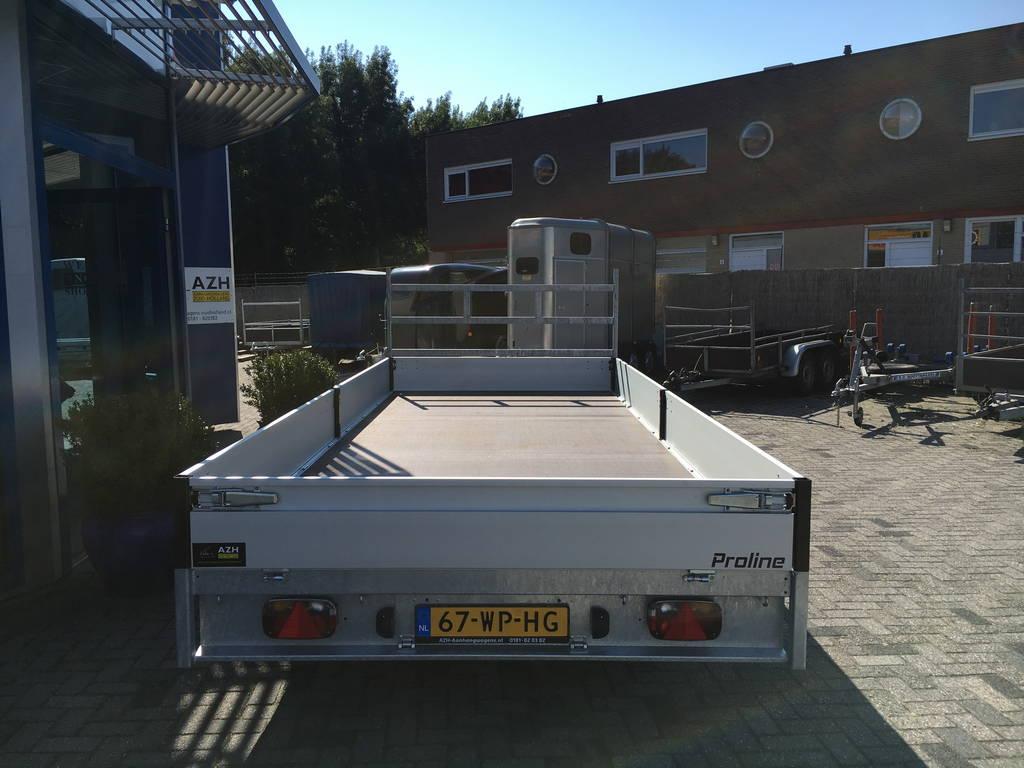 Proline verlaagd 503x202cm 2700kg plateauwagens Aanhangwagens Zuid-Holland achter 2.0