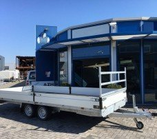 Proline verlaagd 503x202cm 2700kg plateauwagens Aanhangwagens Zuid-Holland hoofd 2.0