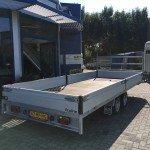 Proline verlaagd 503x202cm 2700kg plateauwagens Aanhangwagens Zuid-Holland schuin achter 2.0