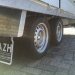 Proline verlaagd 503x202cm 3500kg plateauwagens Aanhangwagens Zuid-Holland banden 2.0