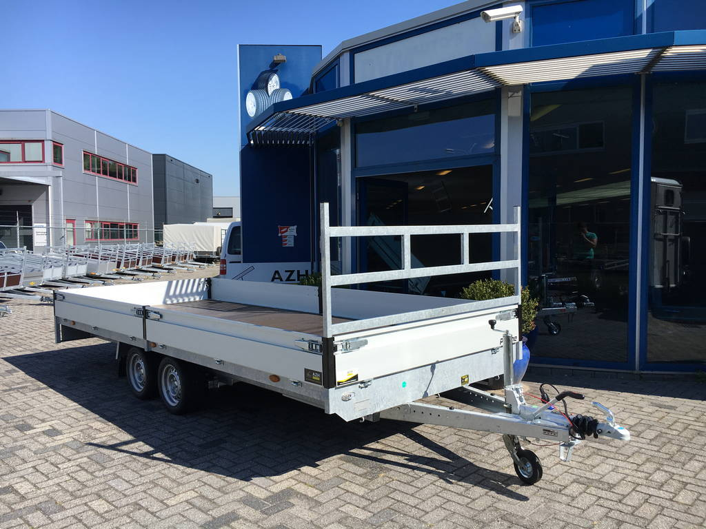 Proline verlaagd 503x202cm 3500kg plateauwagens Aanhangwagens Zuid-Holland hoofd 2.0