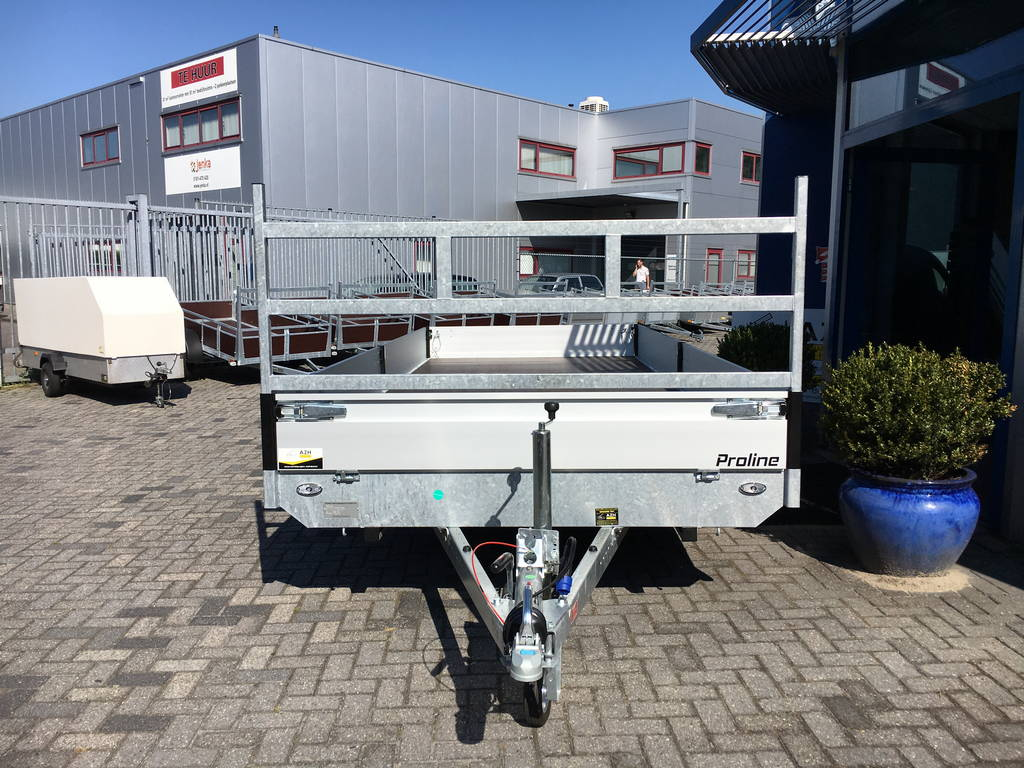 Proline verlaagd 503x202cm 3500kg plateauwagens Aanhangwagens Zuid-Holland voorkant 2.0