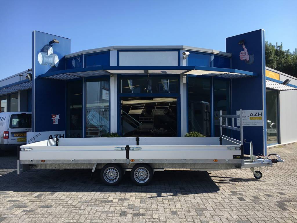 Proline verlaagd 503x202cm 3500kg plateauwagens Aanhangwagens Zuid-Holland zijkant 2.0
