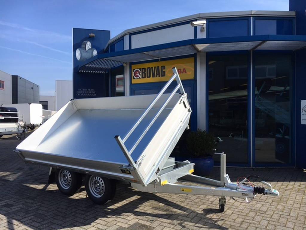 Saris kipper 306x170cm 2700kg kippers Aanhangwagens Zuid-Holland nw zijkant kiepen