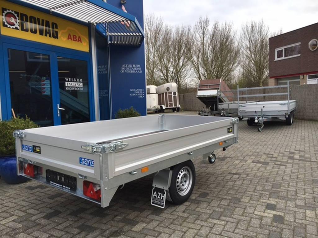 Saris plateau 270x150cm 1350kg plateauwagens Aanhangwagens Zuid-Holland nw achterkant