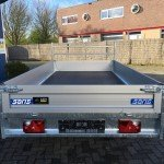 Saris plateau 330x170cm 2700kg plateauwagens Aanhangwagens Zuid-Holland nw achter dicht