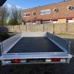 Saris plateau 330x170cm 2700kg plateauwagens Aanhangwagens Zuid-Holland nw achterkant open