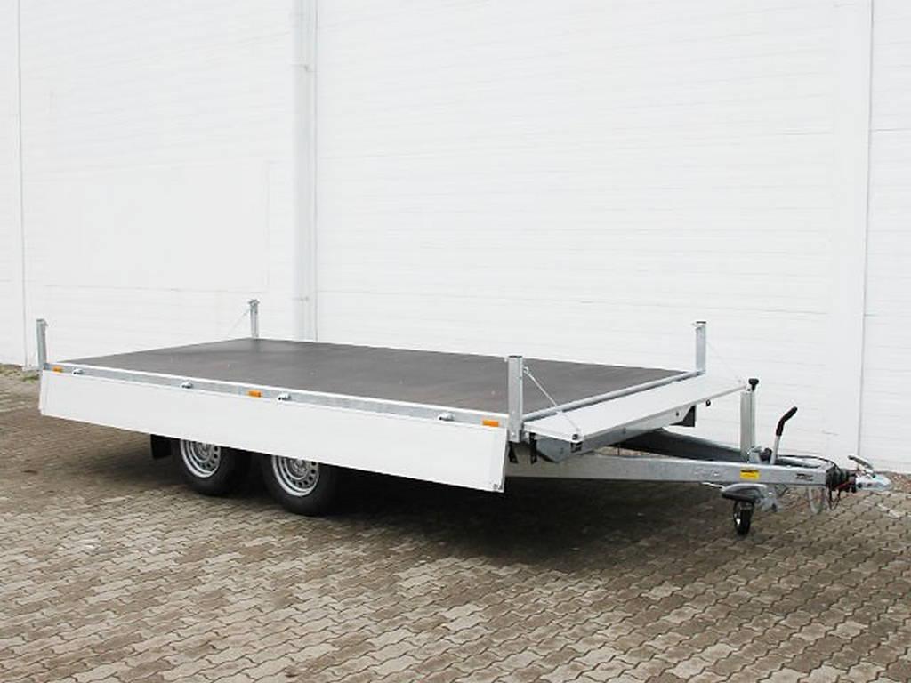Saris plateau 406x204cm 2700kg plateauwagens Aanhangwagens Zuid-Holland open