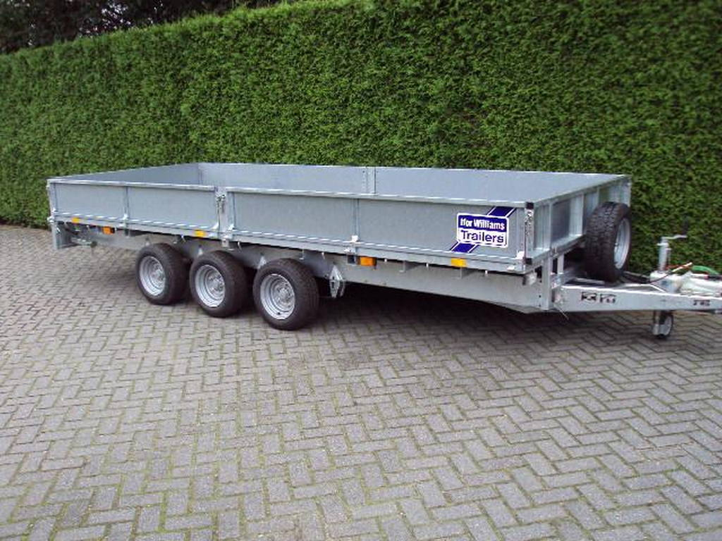 Ifor Williams plateau 547x198cm 3500kg 3-as Aanhangwagens Zuid-Holland zijkant