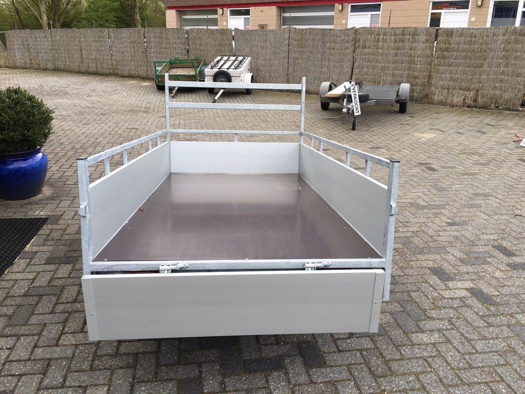 Loady enkelas Alu 257x132cm bakwagens enkelas Aanhangwagens Zuid Holland achterkant open