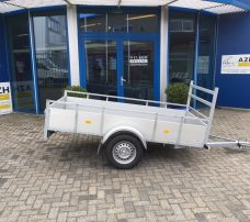 Loady enkelas Alu 257x132cm bakwagens enkelas Aanhangwagens Zuid Holland hoofd