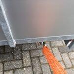 Loady enkelas Alu 257x132cm bakwagens enkelas Aanhangwagens Zuid Holland touwhaken
