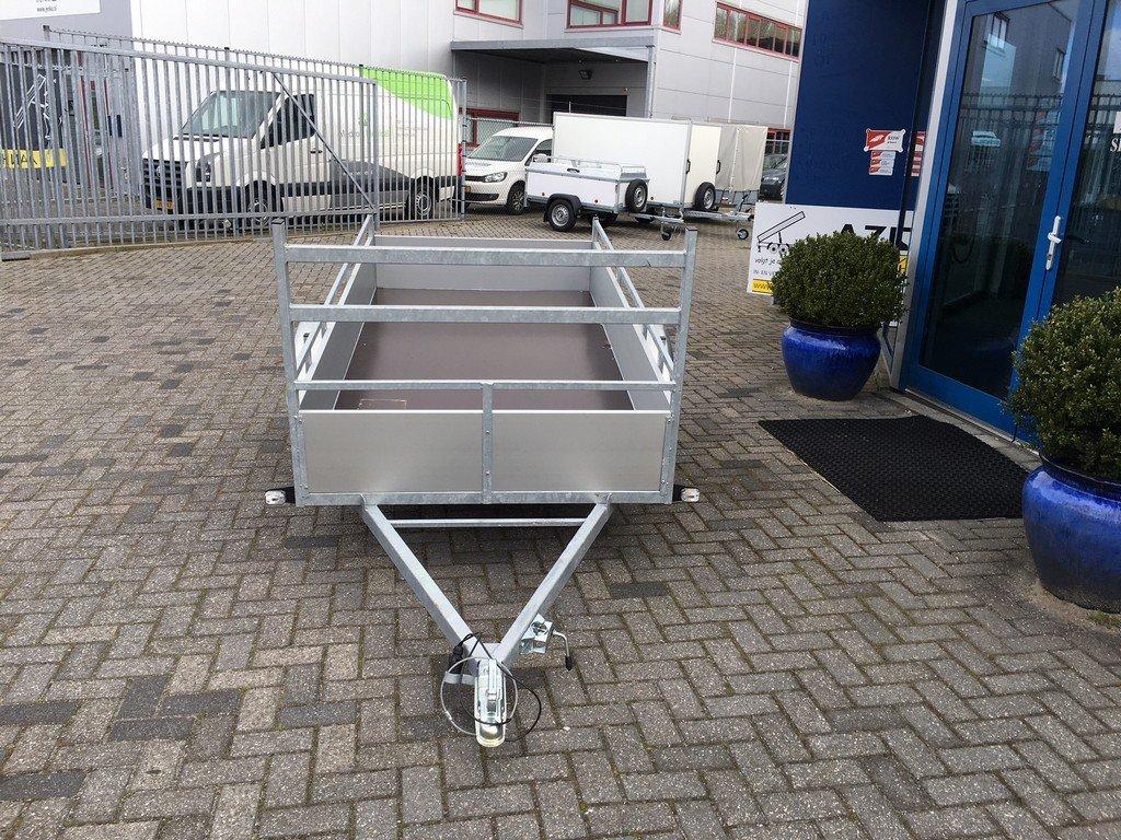 Loady enkelas Alu 257x132cm bakwagens enkelas Aanhangwagens Zuid Holland voorkant