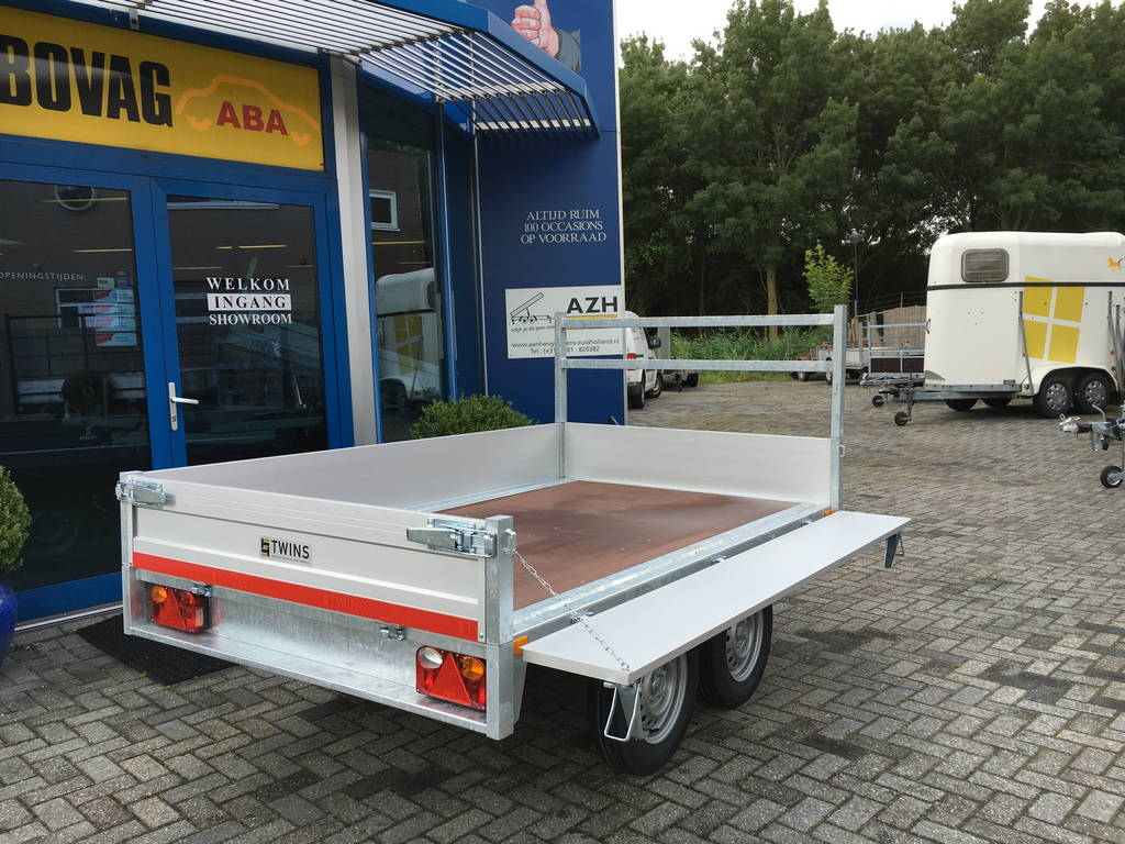 Loady kipper 307x157cm 750kg 2-as kippers Aanhangwagens Zuid-Holland 2.0 vlak zijkant open