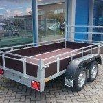 Loady tandemas 307x156cm bakwagens tandemas Aanhangwagens Zuid-Holland achterkant