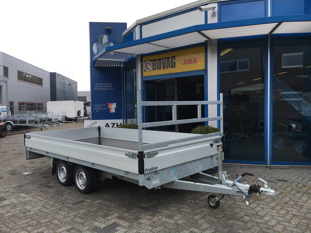 Proline verlaagd 401x202cm 2700kg plateauwagens Aanhangwagens Zuid-Holland 2.0 overzicht