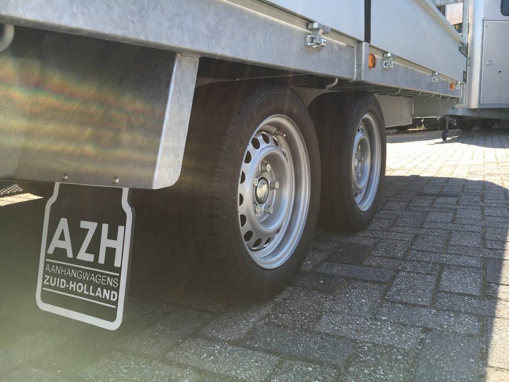 Proline verlaagd 603x202cm 3500kg plateauwagens Aanhangwagens Zuid-Holland banden 2.0