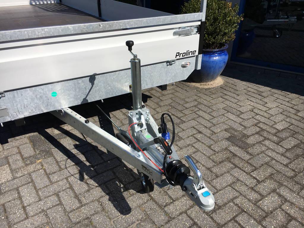 Proline verlaagd 603x202cm 3500kg plateauwagens Aanhangwagens Zuid-Holland dissel 2.0