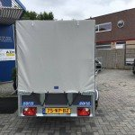 Saris huifaanhanger 256x134x150cm Aanhangwagens Zuid-Holland 2.0 achterkant dicht