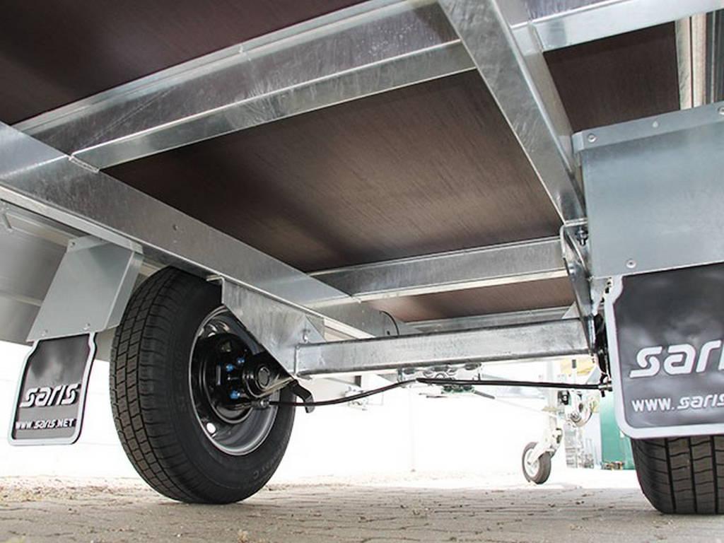 Saris plateau 255x135cm 1400kg plateauwagens Aanhangwagens Zuid-Holland onderstel
