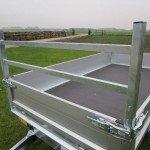 Saris plateau 255x135cm 1400kg plateauwagens Aanhangwagens Zuid-Holland voorrek