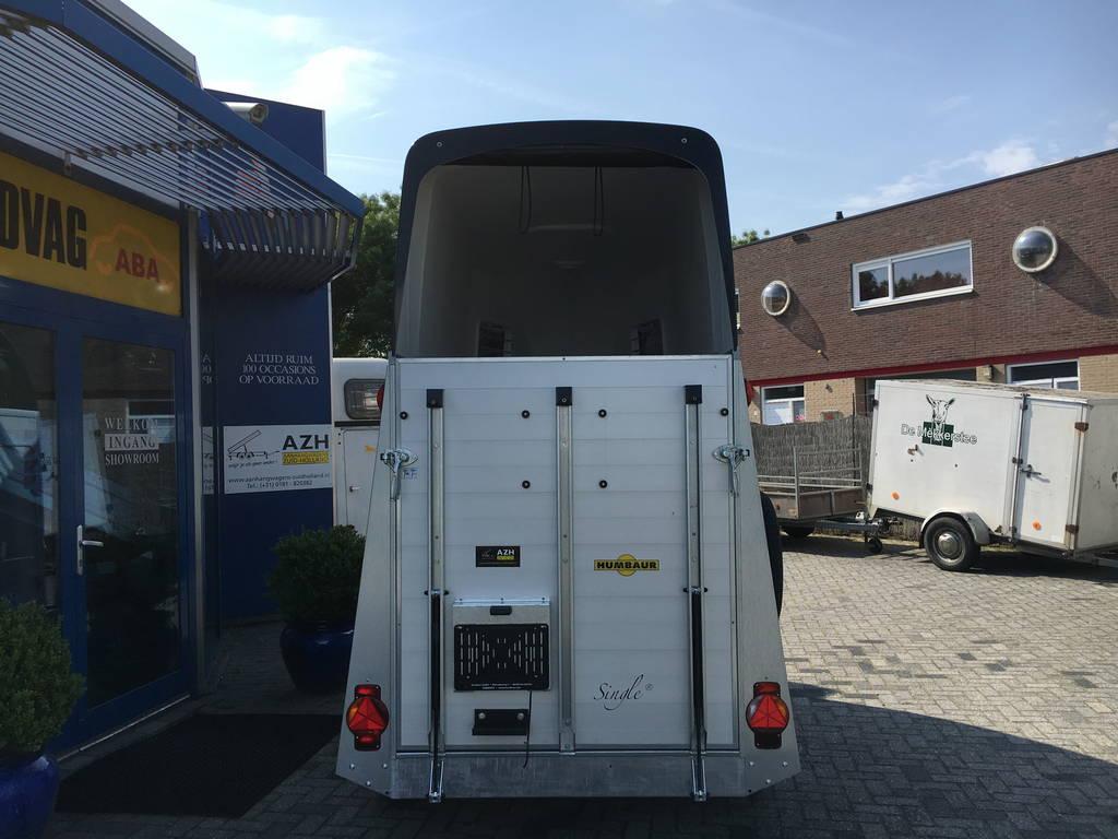 Humbaur Single alu 1,5 paards trailer paardentrailer Aanhangwagens Zuid-Holland 2.0 achterkant dicht