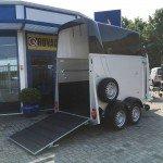 Humbaur Single alu 1,5 paards trailer paardentrailer Aanhangwagens Zuid-Holland 2.0 zijkant open