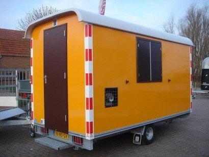 Traditionele schaftwagen Aanhangwagens Zuid-Holland achterkant