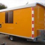 Traditionele schaftwagen Aanhangwagens Zuid-Holland zijkant