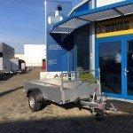 Anssems enkelas 251x126cm bakwagens enkelas Aanhangwagens Zuid-Holland voorkant
