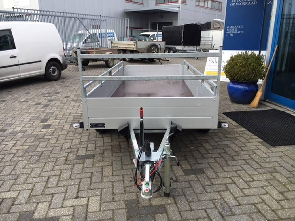 Anssems tandemas 301x126cm bakwagens tandemas Aanhangwagens Zuid-Holland voorkant