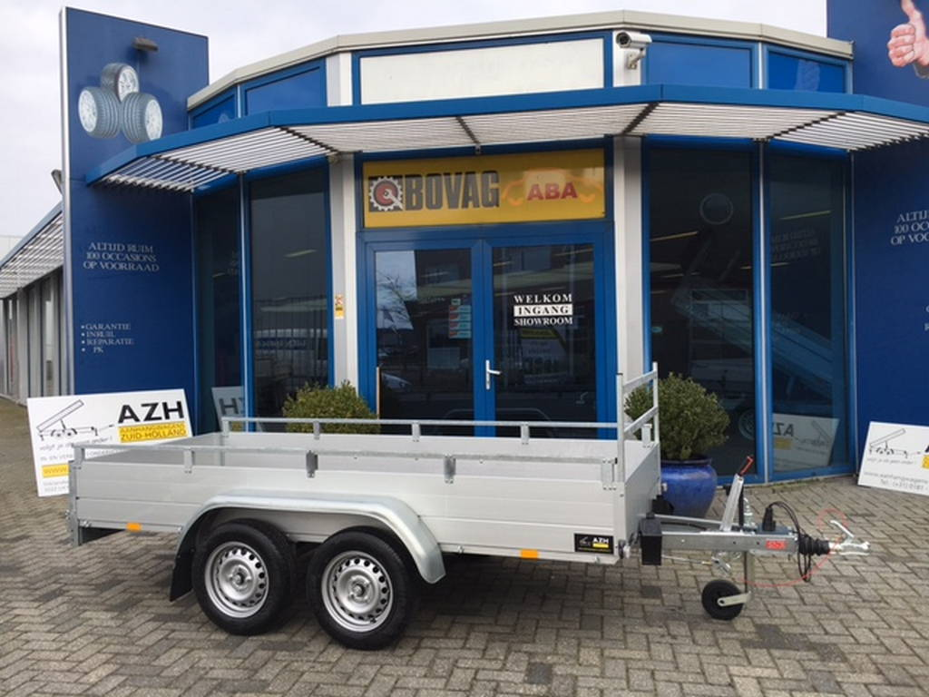 Anssems tandemas 301x126cm bakwagens tandemas Aanhangwagens Zuid-Holland zijkant