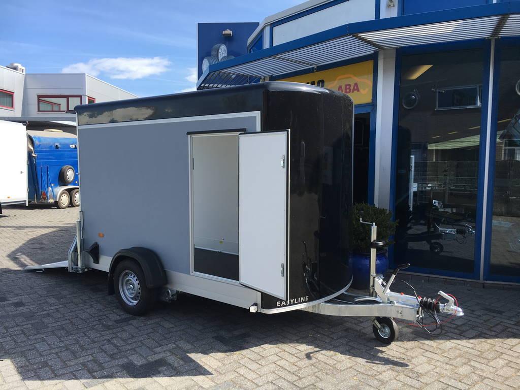 Easyline gesloten motortrailer 302x150x195cm Aanhangwagens Zuid-Holland geopend 2.0