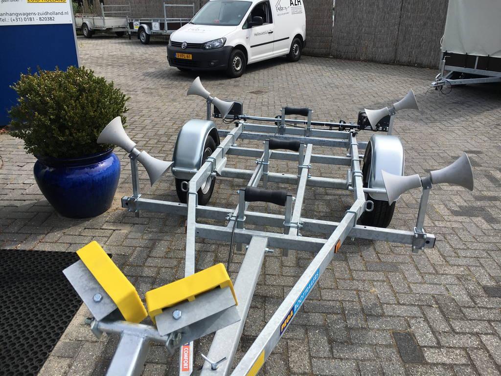 Pega rubberboottrailer 425x170cm Aanhangwagens Zuid-Holland kantelbaar