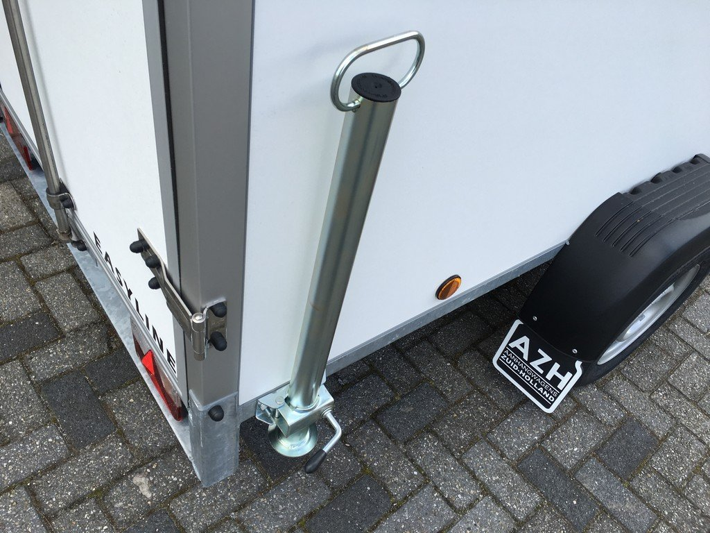Easyline gesloten 249x122x150cm 750kg Aanhangwagens Zuid-Holland steunpoot 2.0