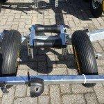 Pega Boottrailer 755x210cm Aanhangwagens Zuid-Holland kielrol detail
