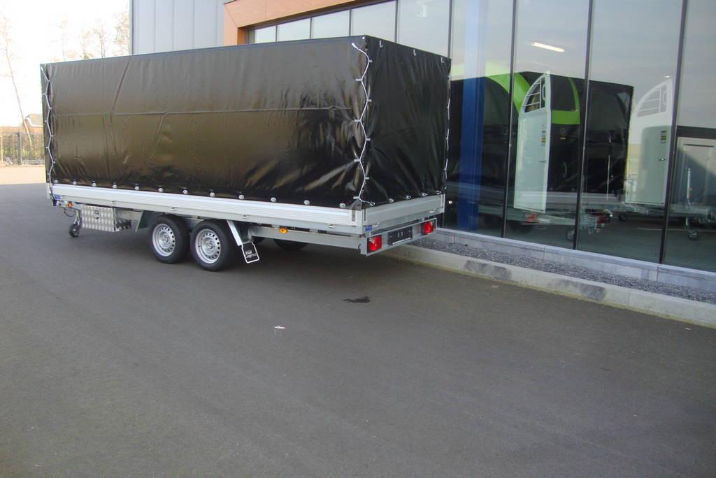 Proline lesaanhanger les aanhangwagen Aanhangwagens Zuid-Holland zijkant huif 3.0