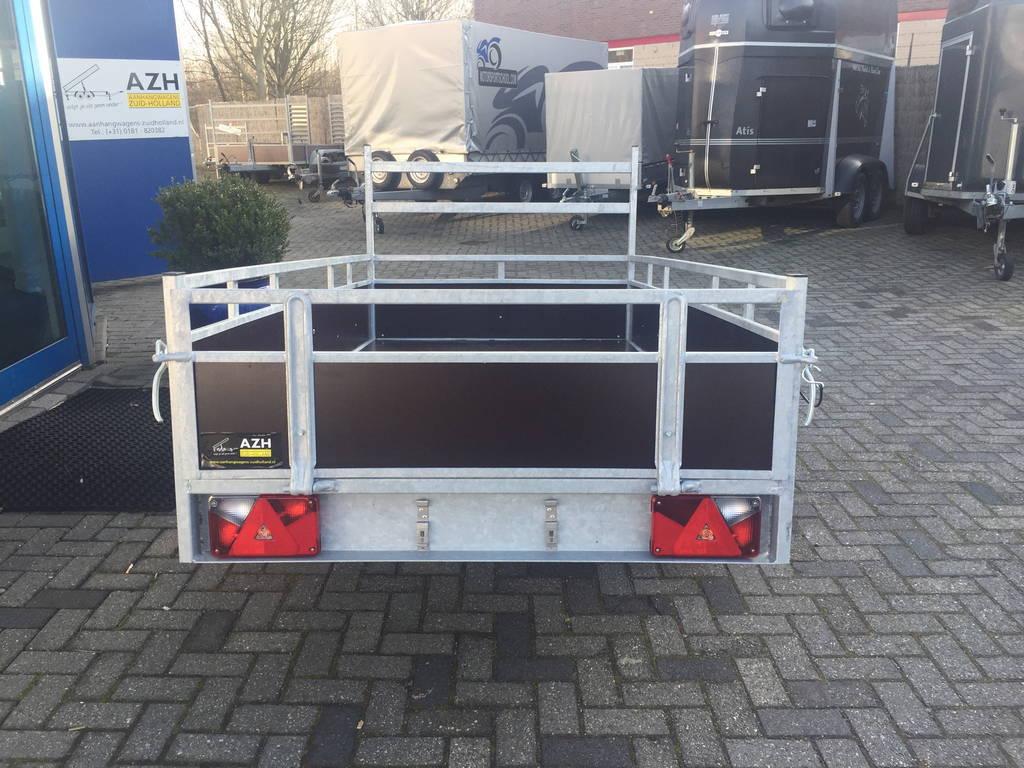 Loady enkelas 250x130cm bakwagens enkelas Aanhangwagens Zuid-Holland achterkant 3.0