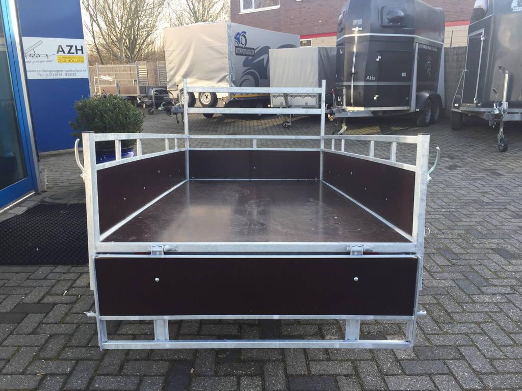 Loady enkelas 250x130cm bakwagens enkelas Aanhangwagens Zuid-Holland achterkant open 3.0