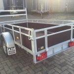 Loady enkelas 250x130cm bakwagens enkelas Aanhangwagens Zuid-Holland achterkant schuin 3.0