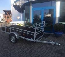 Loady enkelas 250x130cm bakwagens enkelas Aanhangwagens Zuid-Holland hoofd 3.0