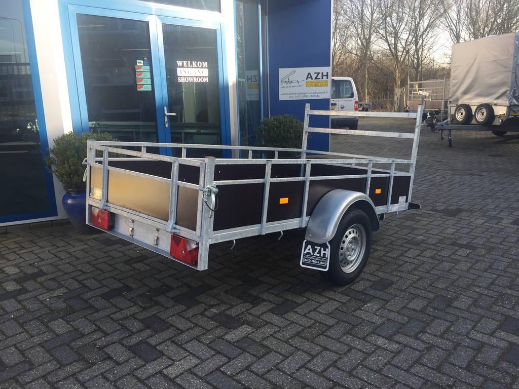 Loady enkelas 250x130cm bakwagens enkelas Aanhangwagens Zuid-Holland schuin 3.0