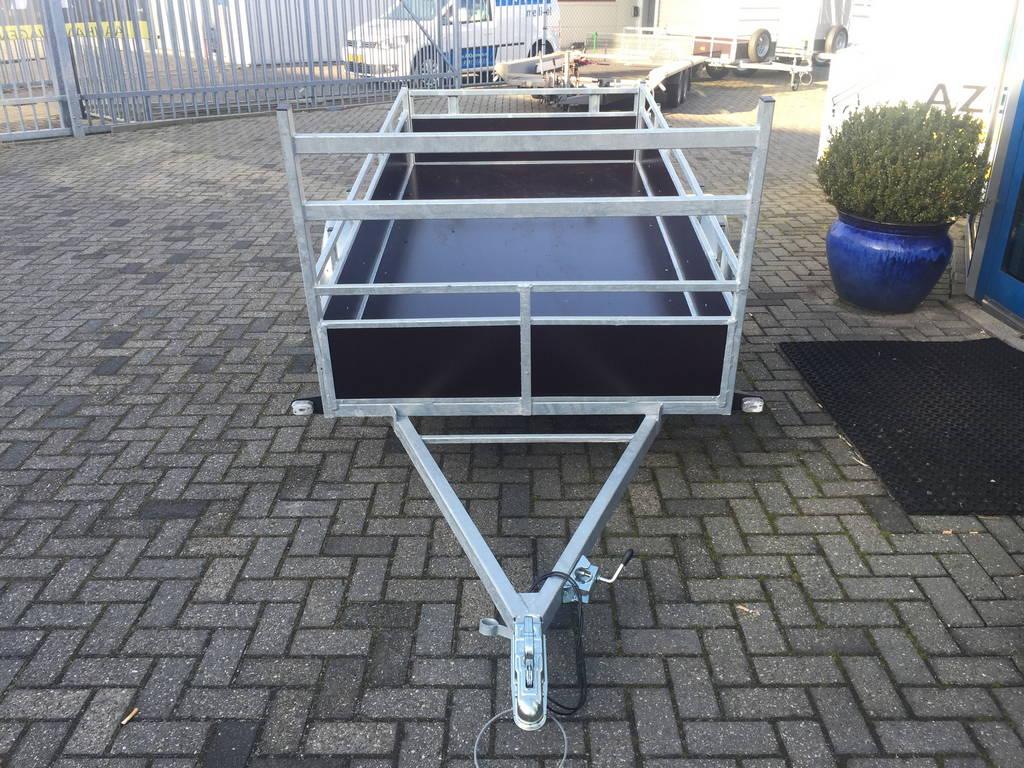 Loady enkelas 250x130cm bakwagens enkelas Aanhangwagens Zuid-Holland voorkant 3.0