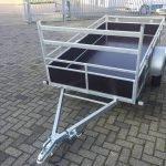 Loady enkelas 250x130cm bakwagens enkelas Aanhangwagens Zuid-Holland voorkant schuin 3.0